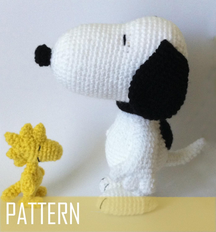 PDF CROCHET PATTERN Snoopy and Woodstock by ...