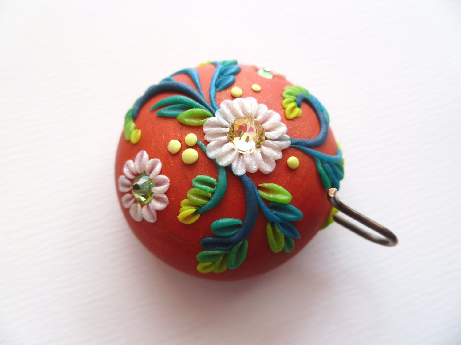 Portuguese Knitting Pin - Magnetic Portuguese Knitting Pin - Handmade Knitting Pin or Badge Holder - FlightyFleurs