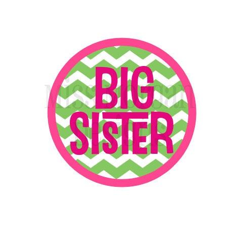 Personalized Chevron Big Sister Sibling Iron On By Missmorgan