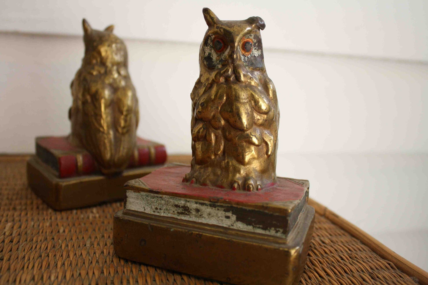 Sale vintage owl bookends armor bronze by silverbeevintage on etsy - Armor bronze bookends ...