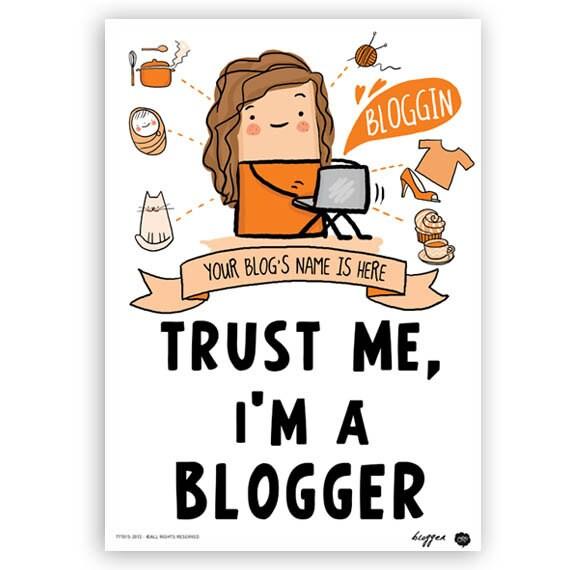 customized Blogger Poster (wall art, room decor, blogger, for her, digital print, blog lovers, gift for bloggers, women)