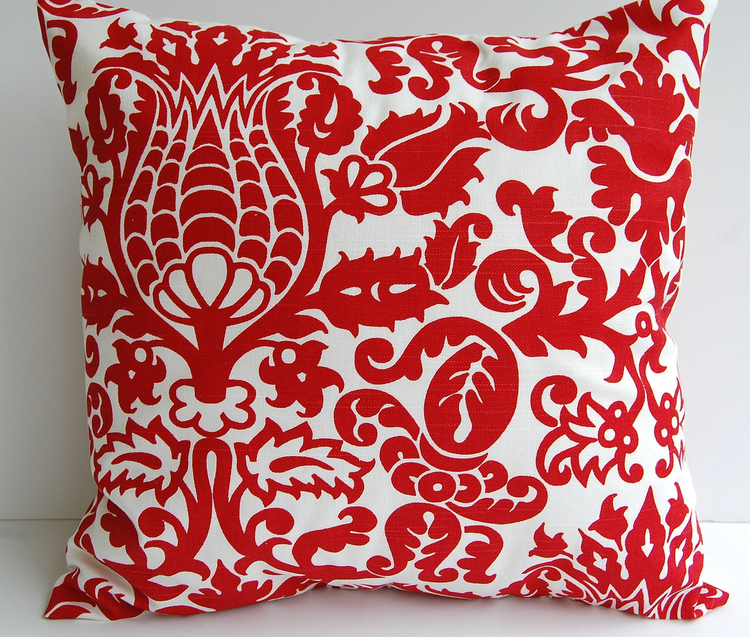 Throw Pillow Covers 20 X 20 : Red throw pillow cover 20 x 20 one decorative by ThePillowPeople