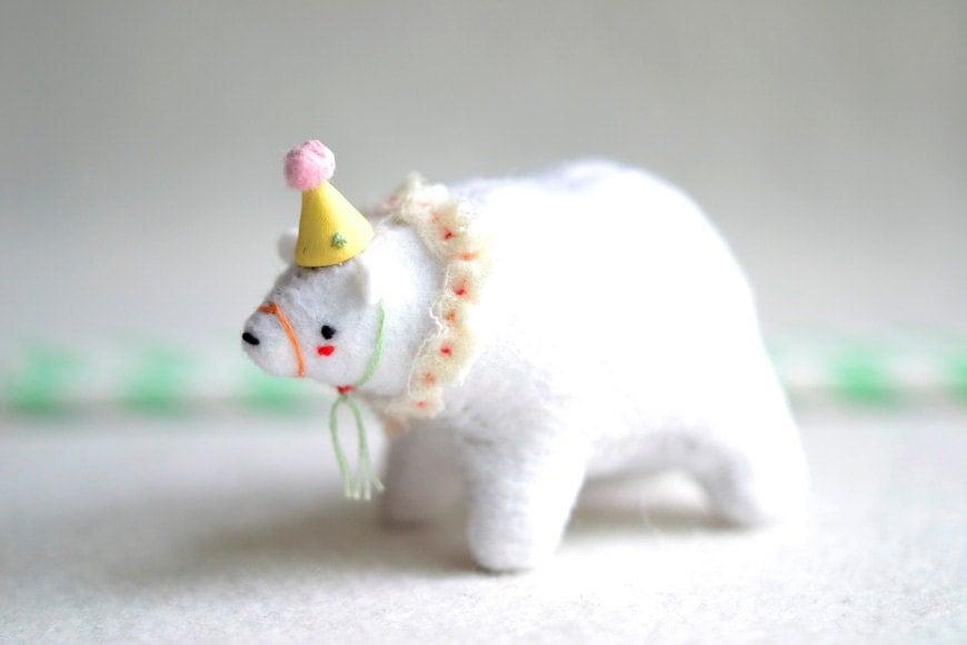 baby circus bear - soft sculpture animal