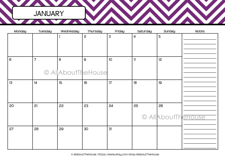 Calendar-Perpetual Calendar-Chevron Calendar-2013-2014 Calendar ...