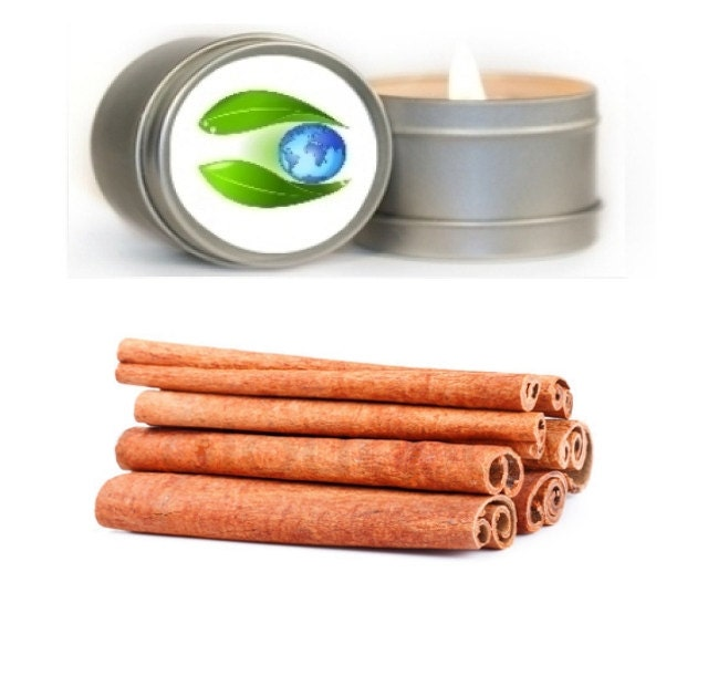 CInnamon Soy Candle 8 oz. -  Certified Pure Essential Oil - Aromatherapy Candles - Travel Tin Candles - Scented Candles - Vegan Organic - EarthBotanics