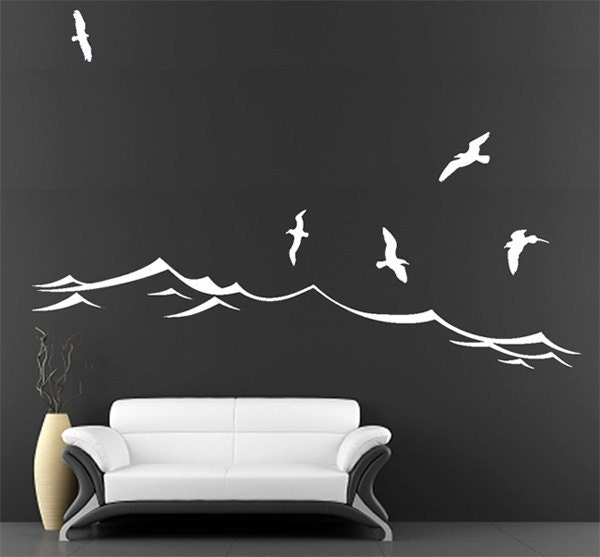 Unavailable listing on etsy for Beach wall decals