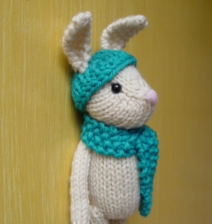 Beret Hat Knitting Pattern : Items similar to Genevie the Bunny knitting pattern PDF on Etsy