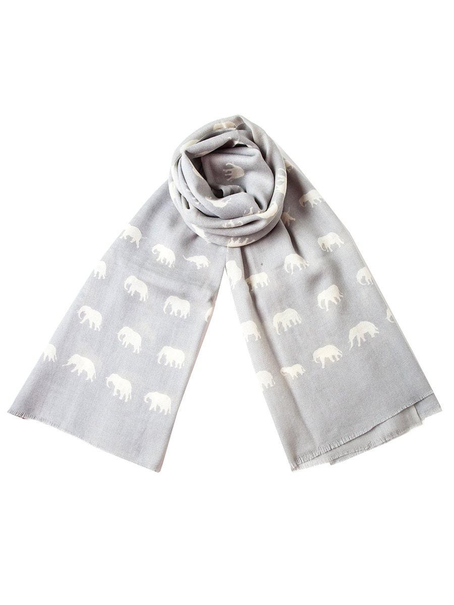Wool Elephant Scarf in Light Grey - sophiacostas