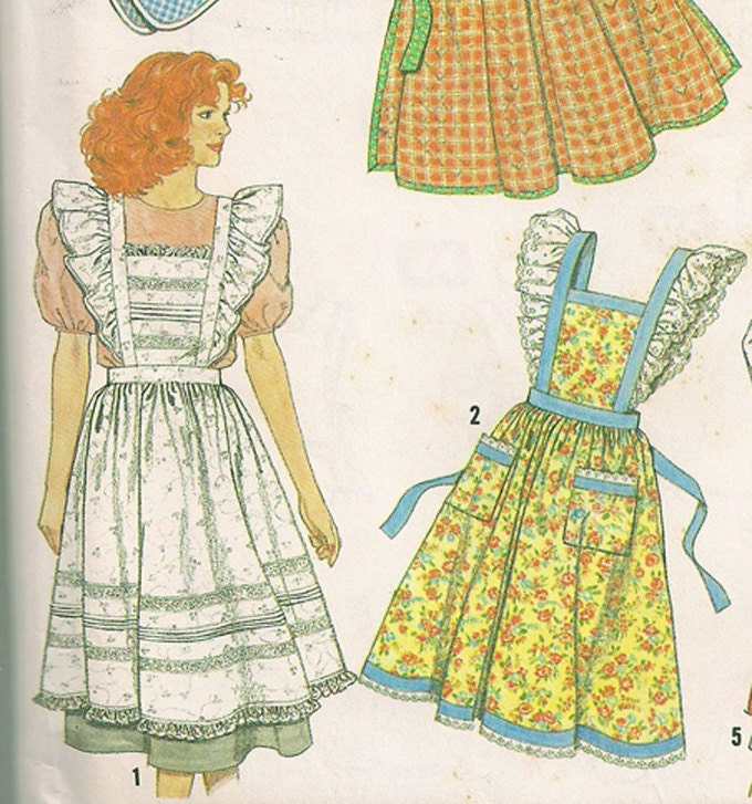 Vintage Aprons Pattern Simplicity Crafts 9807 by ...