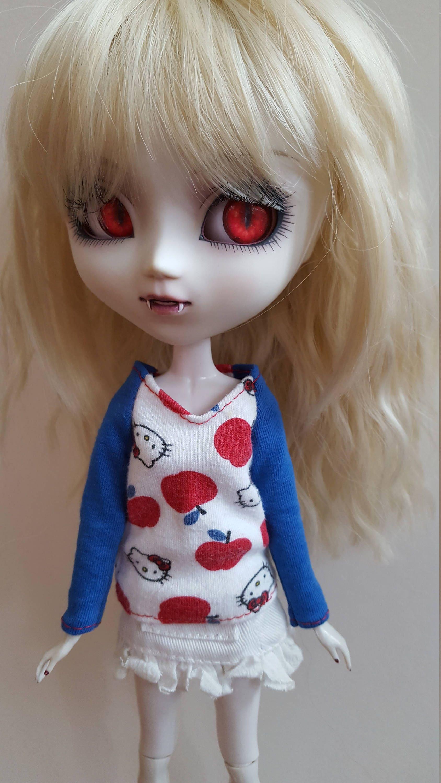 Hello Kitty long sleeved TopShirt for Pullip  blue