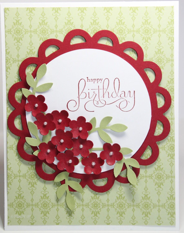 Happy Birthday Flower Bouquet Card Stampin Up by BeingACreativeMom