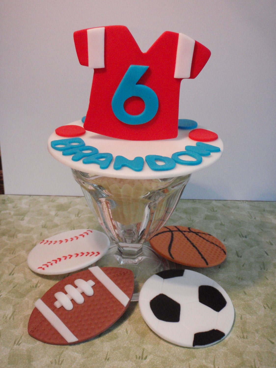 Cake Decorating Classes Central Nj : All Star Sports Personalized Edible Fondant by ...