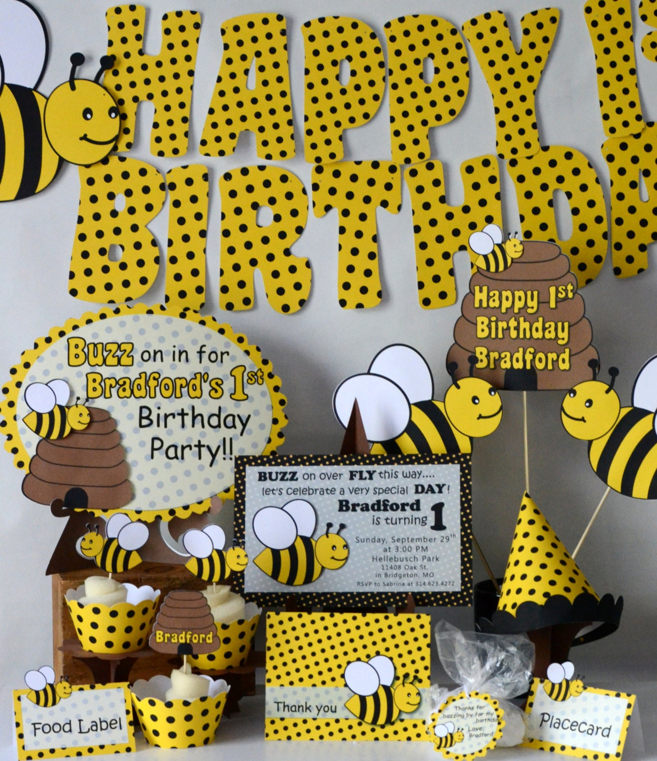 bumble bee decorations bumble bee baby shower by bcpaperdesigns