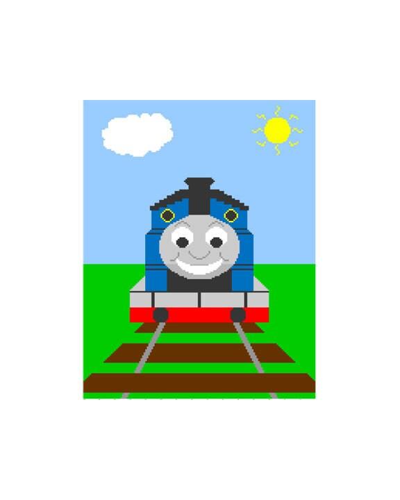 Crochet PATTERN GRAPH Thomas The Train