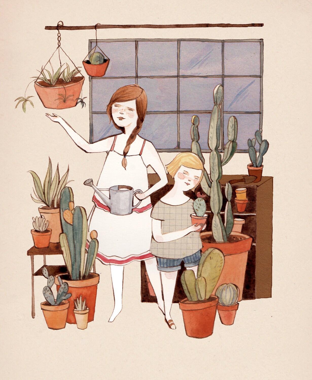 Greenhouse Garden 8.5x11