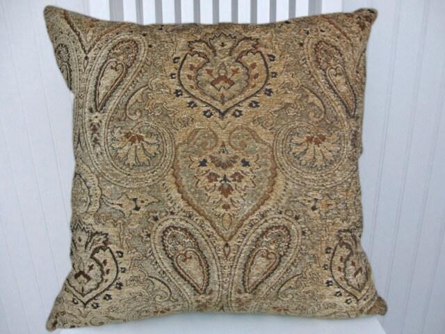 Black Chenille Throw Pillows : Brown Black Chenille Pillow Throw Pillow by CodyandCooperDesigns