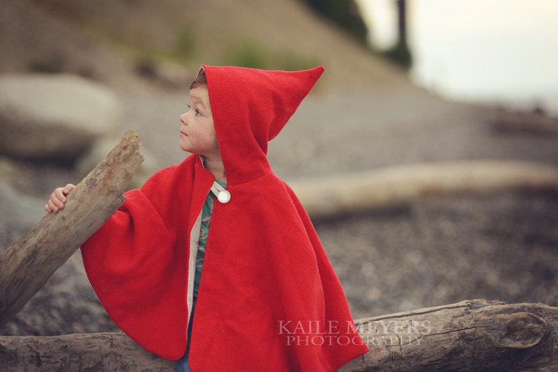 Little Red Riding Hood Cape - PDF Pattern - BigLittle