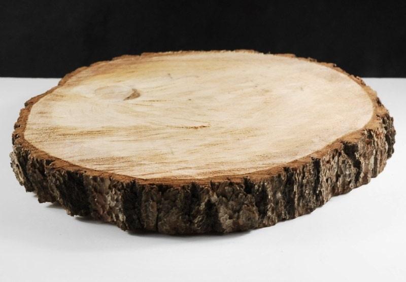 Circular wood pieces