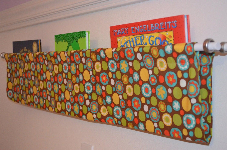 Fun Multi Colored Dots Fabric Book Shelf Sling