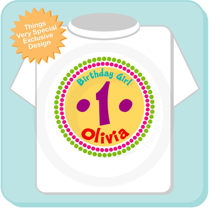 year old birthday shirt 1