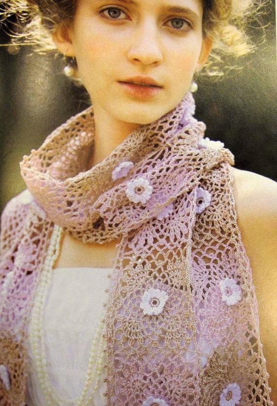 Items similar to Japanese PDF Pattern - Crochet Flowers ...