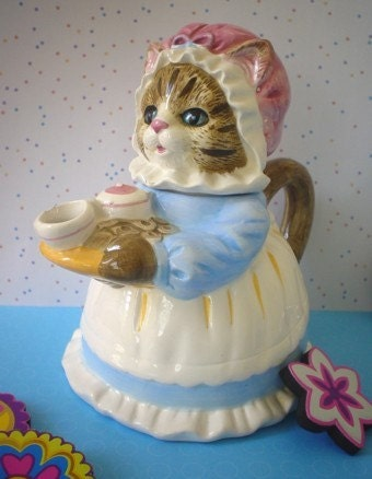 Ms Cat Teapot Heritage Mint Collectible By
