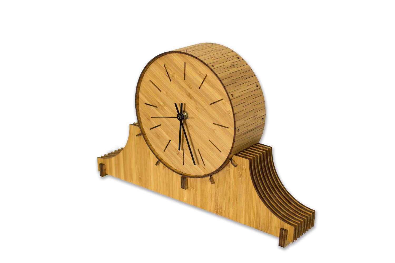 Cardboard Safari Living Hinge Wood Mantel Clock ANHO1035 Finish: Birch