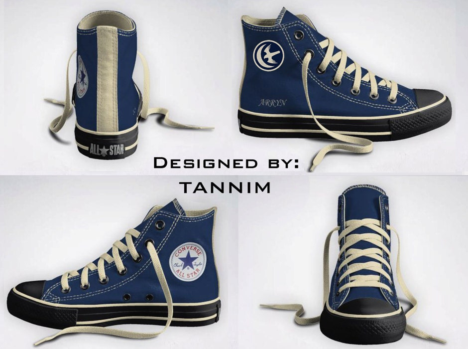 Custom Game of Thrones: House Arryn Converse Chucks