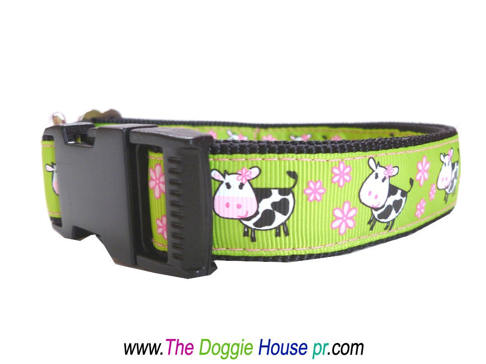 Dog Collar - Happy Cows - thedoggiehouse