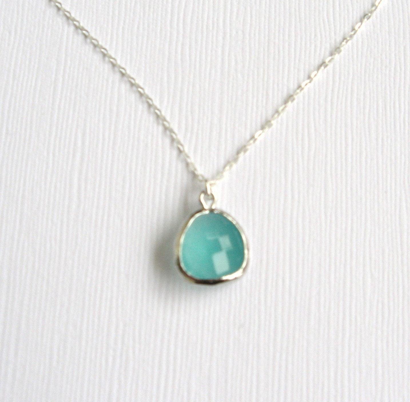 Mint julep silver delicate modern jewelry by LemonSweetJewelry