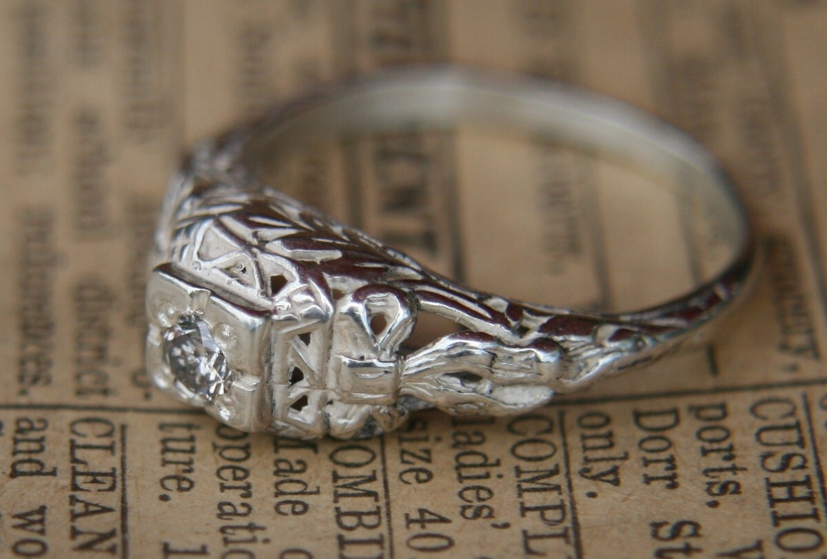 engagement ring antique reproduction by