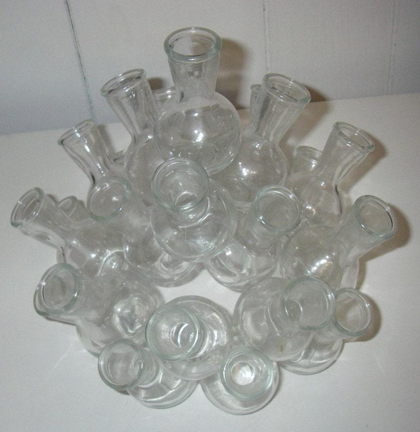 Unique cluster vase vintage stacking glass by
