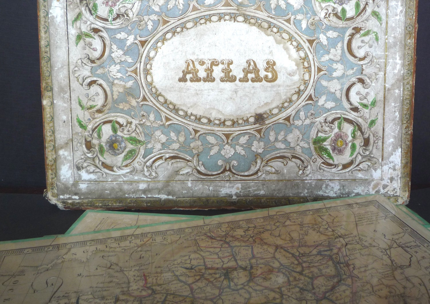 Antique French Dissected Puzzles Atlas Geographique Victorian Puzzle Map Dissected Maps of France Gironde The World