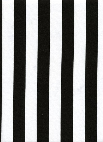 Black White Vertical Stripe Striped Fabric Bty By