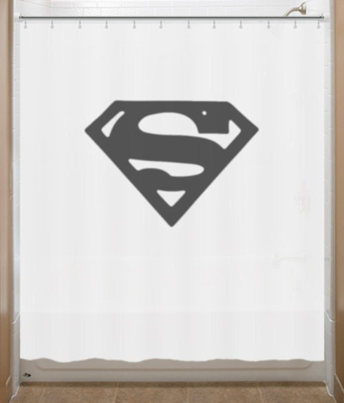 Superman Shower Curtain Chest S Logo Bathroom By Showercurtains