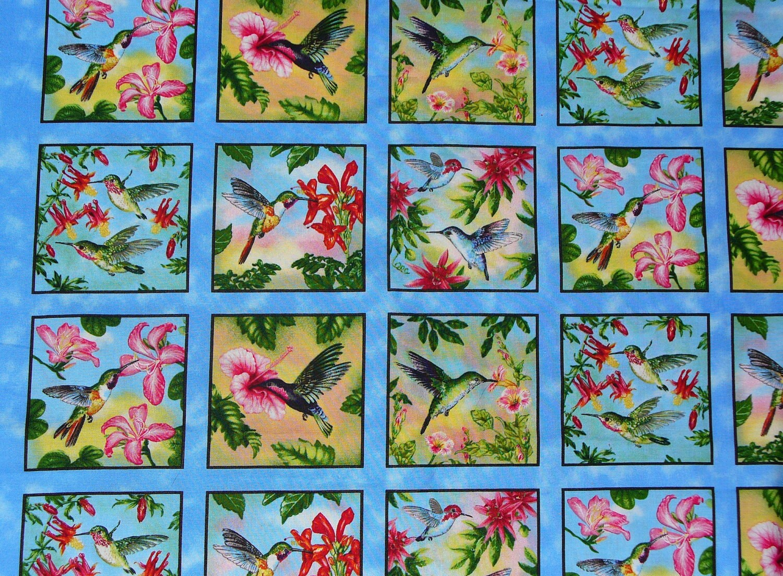 hummingbird fabric hummingbird blocks by trinketsintheattic. Black Bedroom Furniture Sets. Home Design Ideas