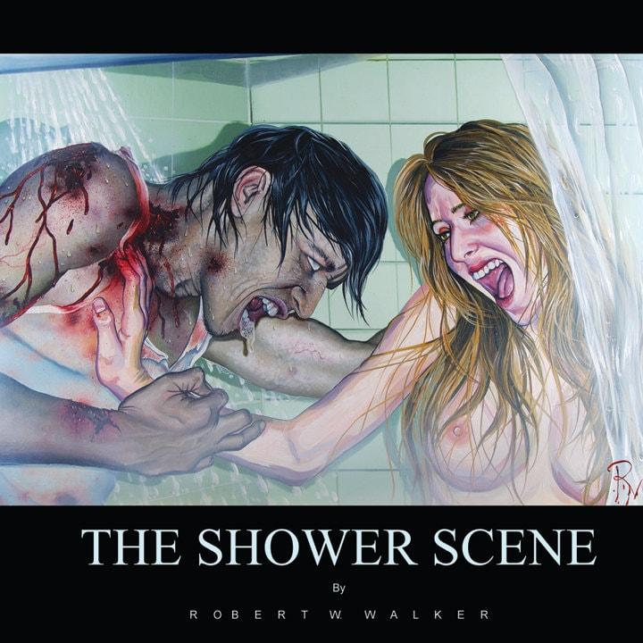 RW2 ZOMBIE Shower Curtain Cloth Shower Scene by by RW2Gallery