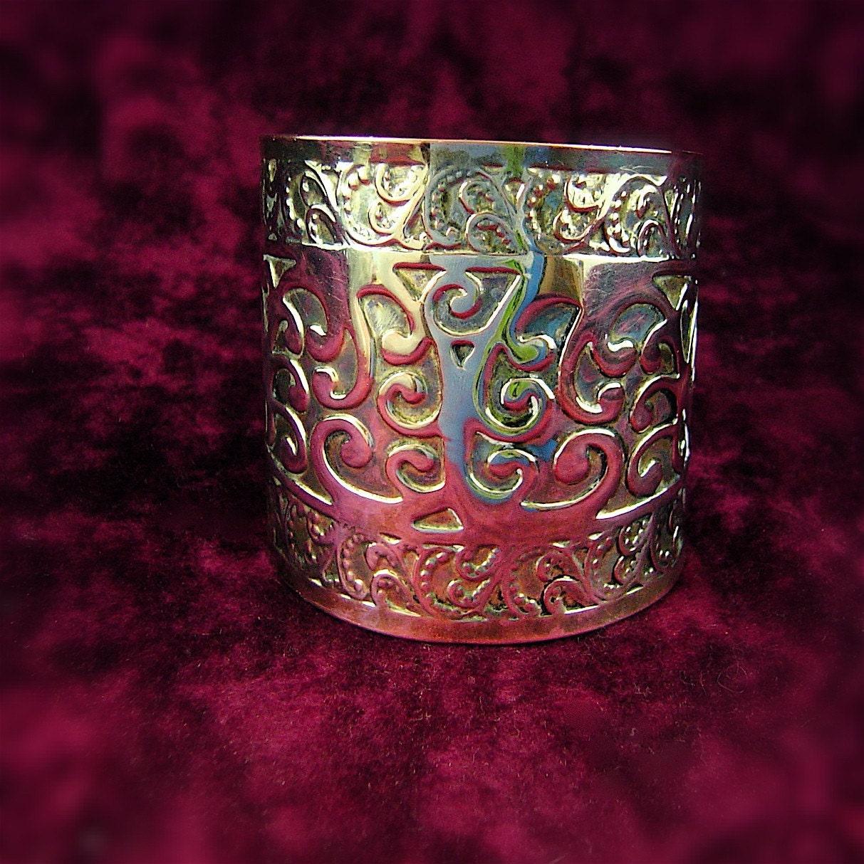 Shiny Ethnic cuff bracelet