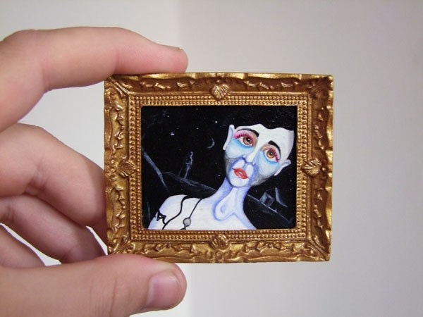 Miniature Oil Painting for Dollhouse or Collection by VaKaDi