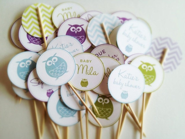 items similar to owl baby shower decorations printables diy boy girl