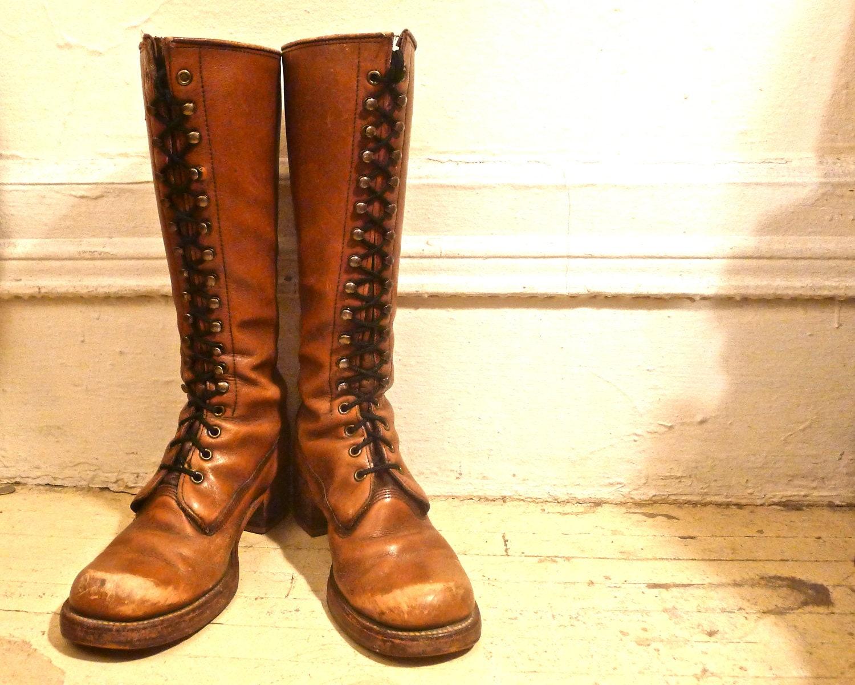 vintage authentic frye lace up boots. size 7b - evolutionnow