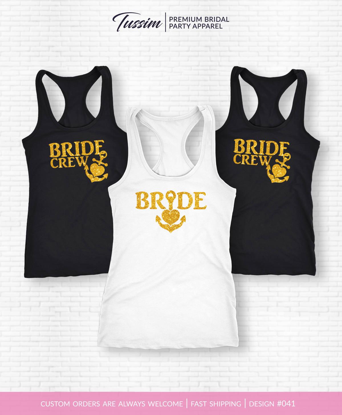 Bride Crew Tank Top Bride Crew Shirt Bride Tank Top Engagement Party Shirt Bachelorette Party Shirt