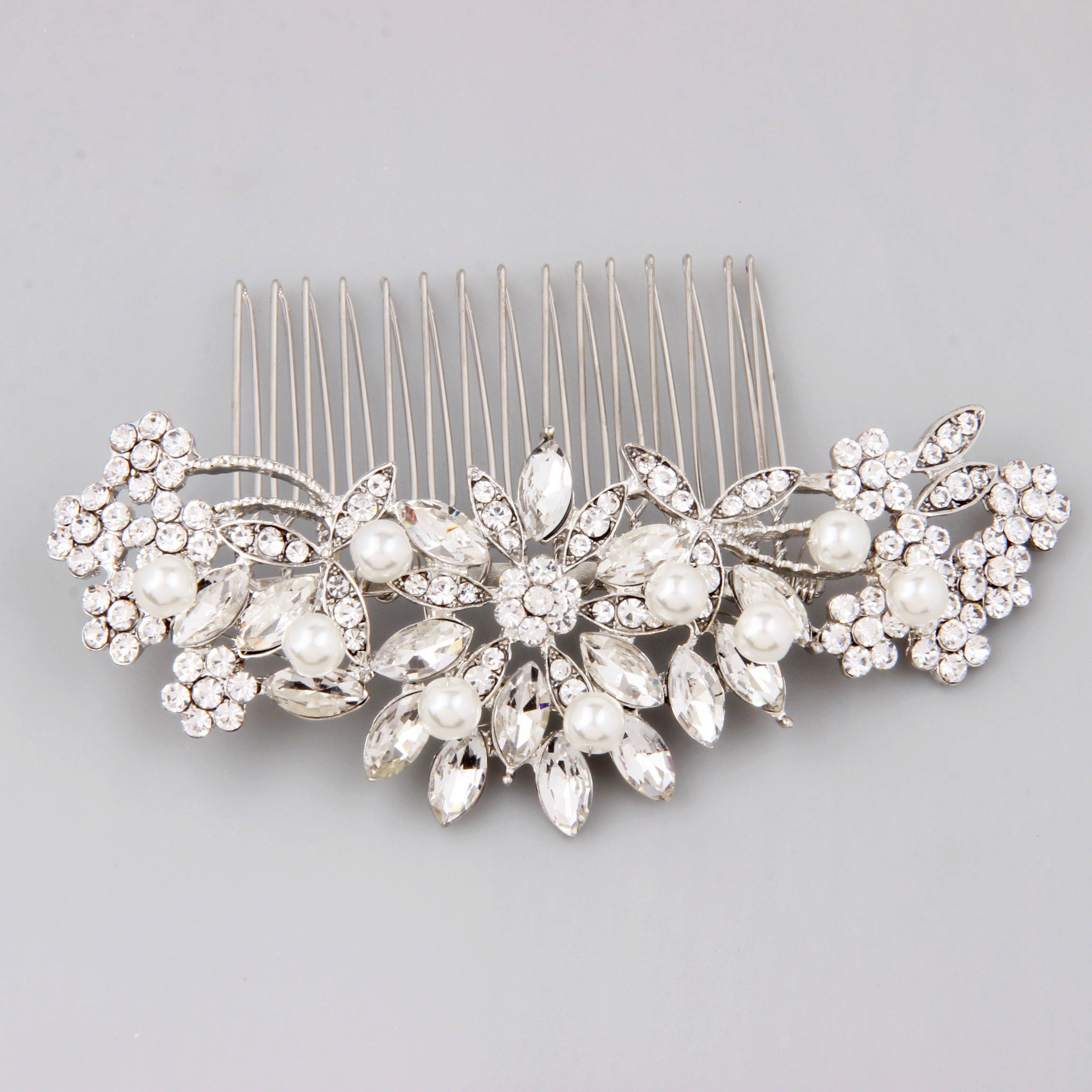 Bridal Hair Comb Pearl Hair Comb Wedding Hair Comb Crystal