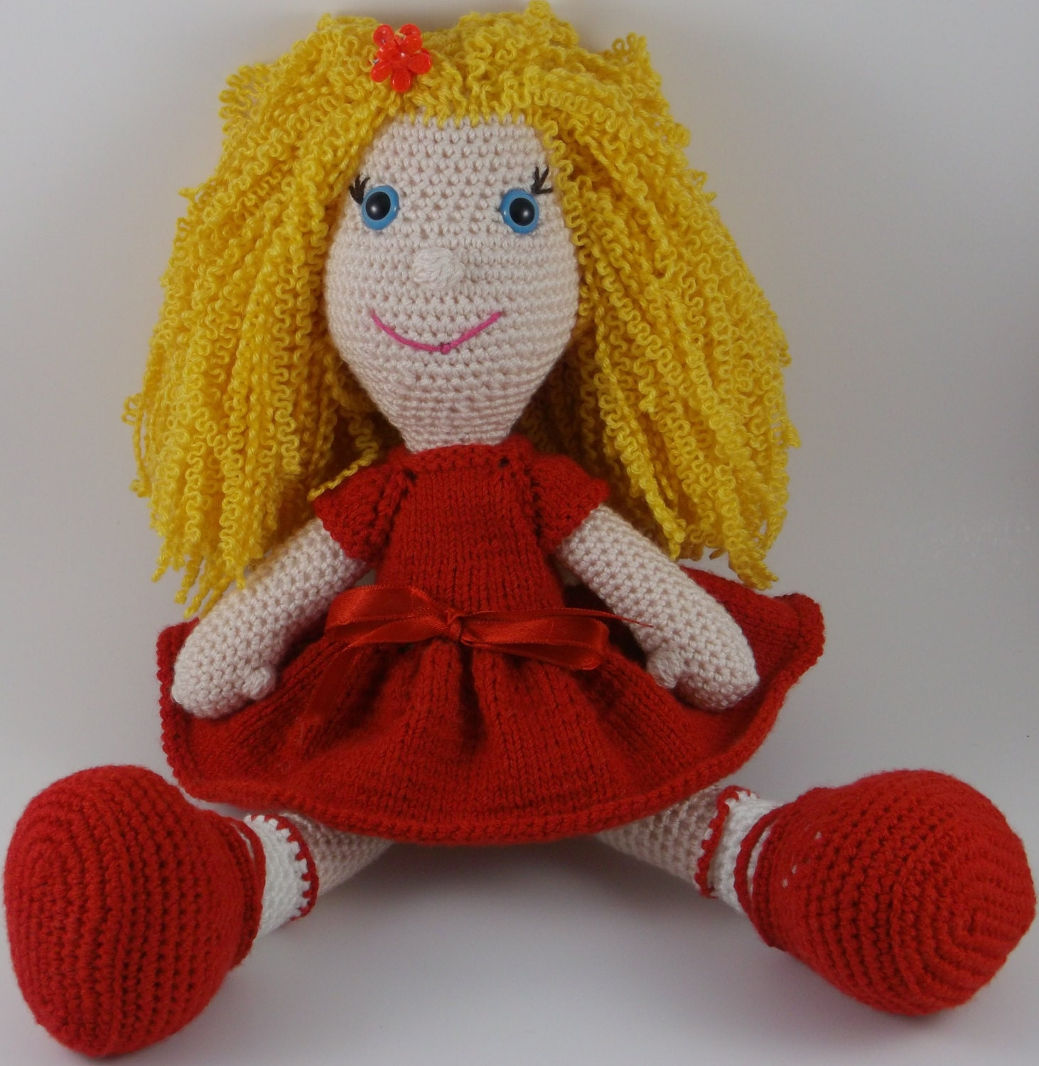 Hand knitted amigurumi doll for valentines day. Baby by ...