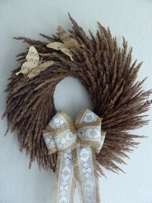"""natural dried grass wreath 17"""" -Home Decor - 100% natural grass"""