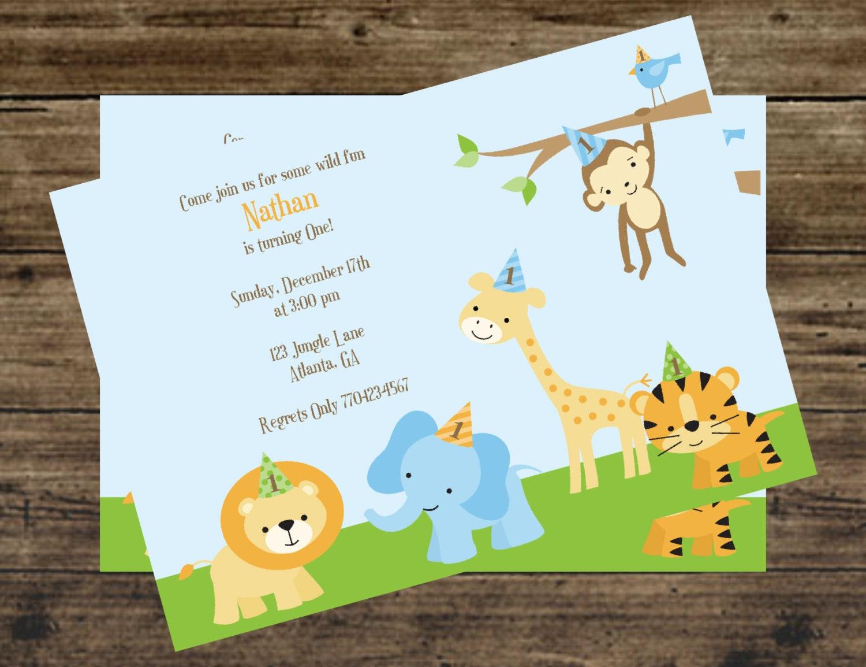 Zoo Animals Birthday Party Invitations Image Inspiration of Cake