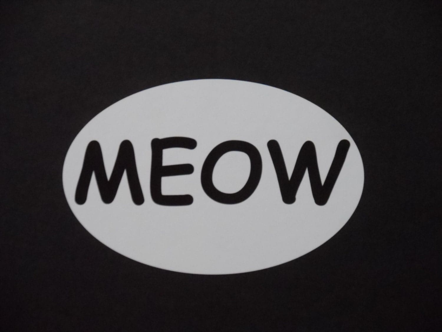 MEOW Bumper Sticker - MainelyPets