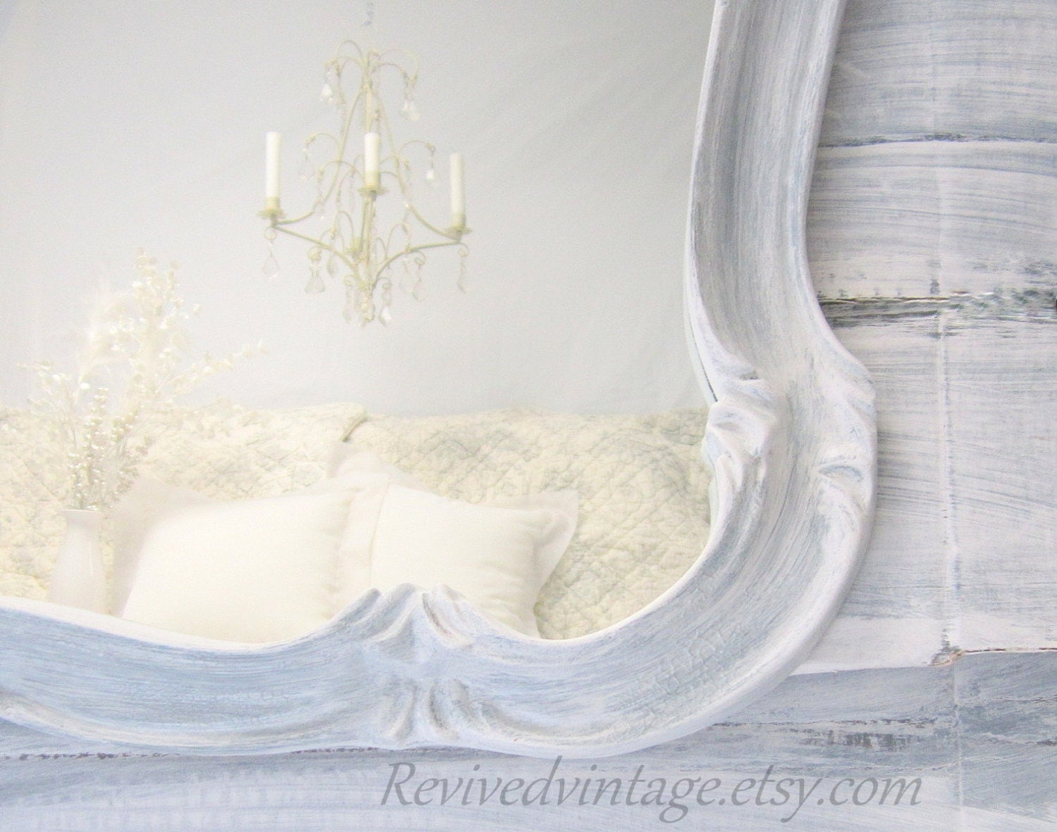 Reserved for trish layaway french country by revivedvintage for Large white mirrors for sale