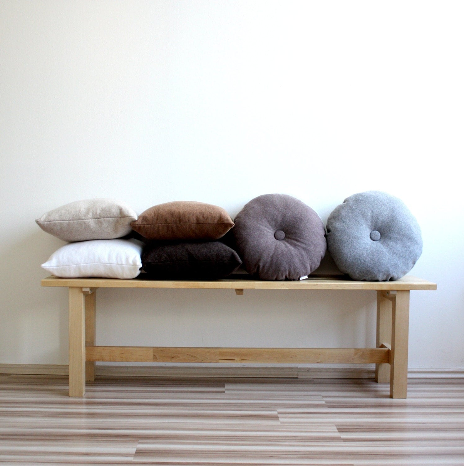 "Pure ""Cashmere day"" Pillows  made from recycled sweaters 100% cashmere - Catinthecloset"