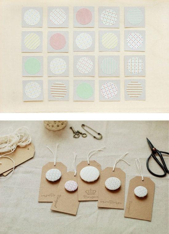 Fabric Sticker - ann dot 1.5 - No.01 (A4),1sheet